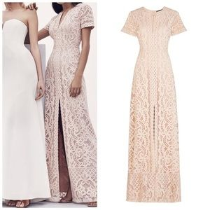 BCBGMAXAZRIA Cameo Cailean Lace Gown Formal Dress